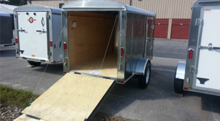 Multiple 5x10 trailers on our lot