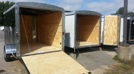 Multiple 7x12 trailers on our lot